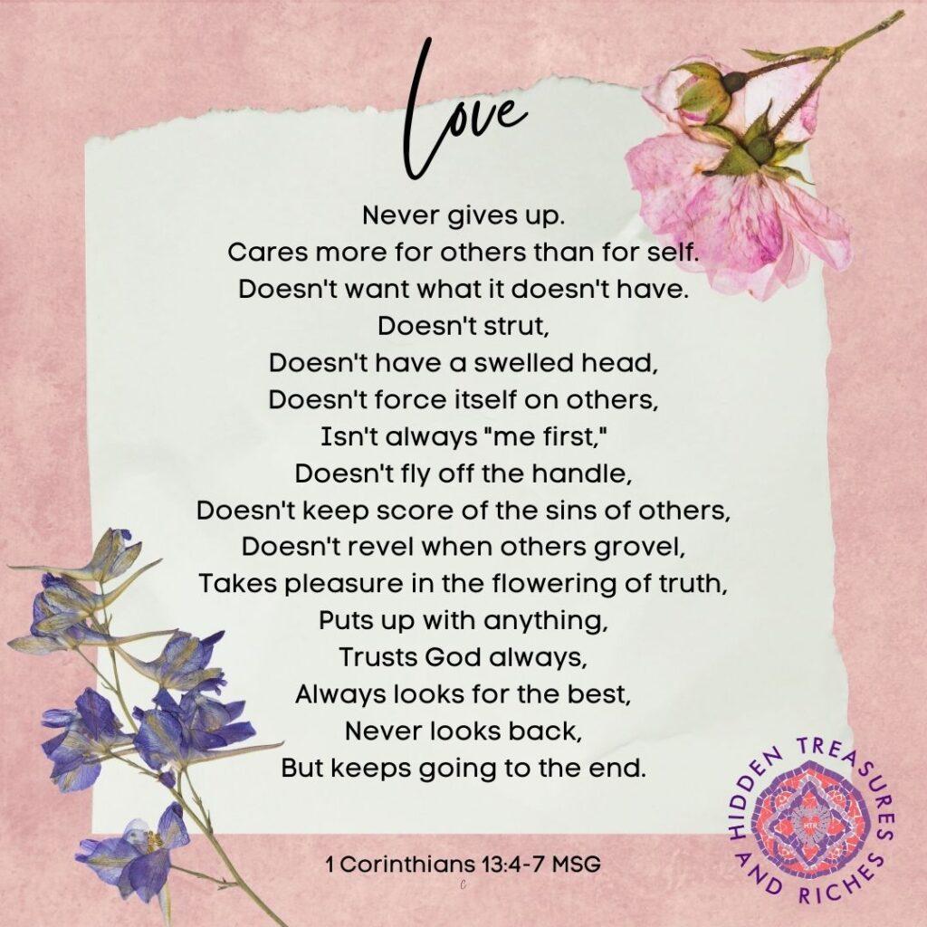 Extravagant Love never quits