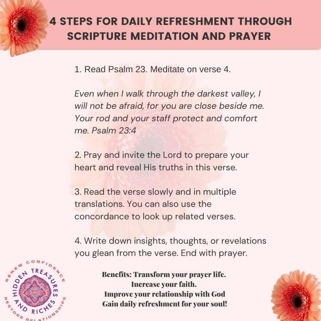 4 Steps for Scripture Meditation and Prayer - Christian Life Coaching for Women