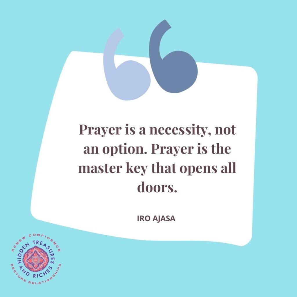 Prayer is a necessity, not an option-Christian Life Coaching for Women
